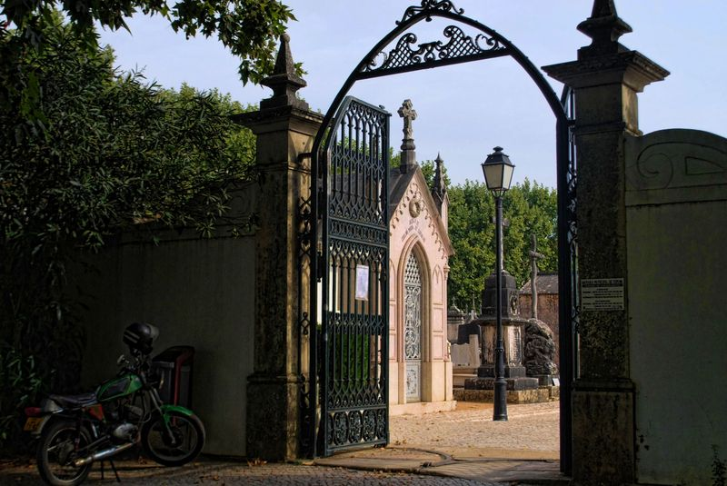 Gate of the Cemetery of the City of Tomar in Portugal
