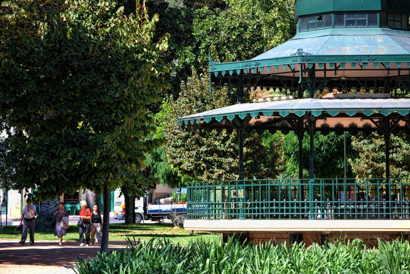 Bandstand at the Garden of Varzea Pequena in the City of Tomar in Portugal