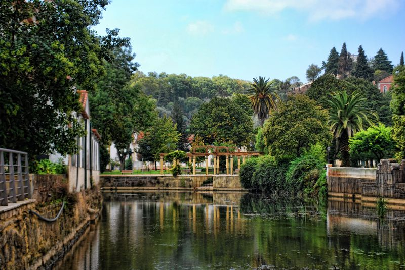 The luxuriant garden of Varzea Pequena in the City of Tomar