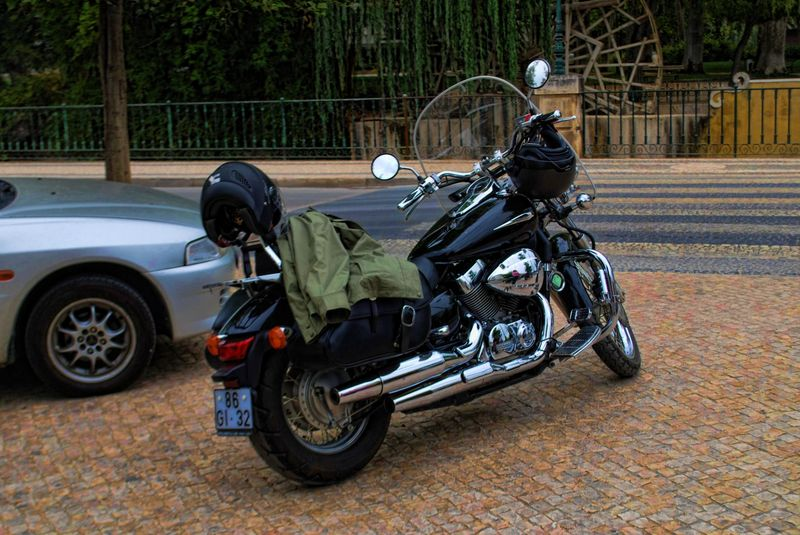 Harley Davidson in the City of Tomar in Portugal